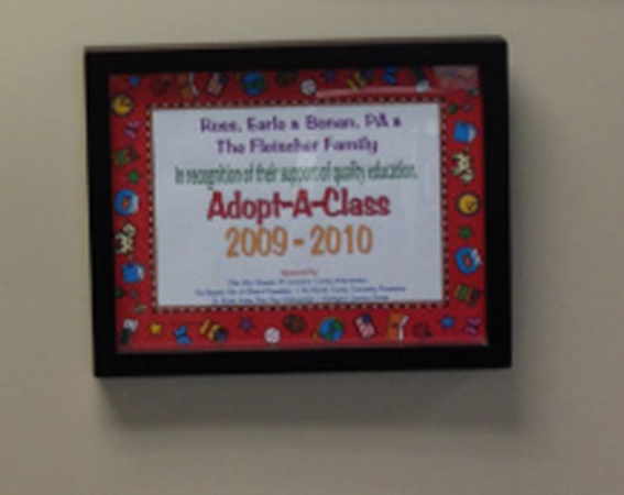 Ross Earle Bonan - Proud Annual Sponsors for Adopt a Classroom