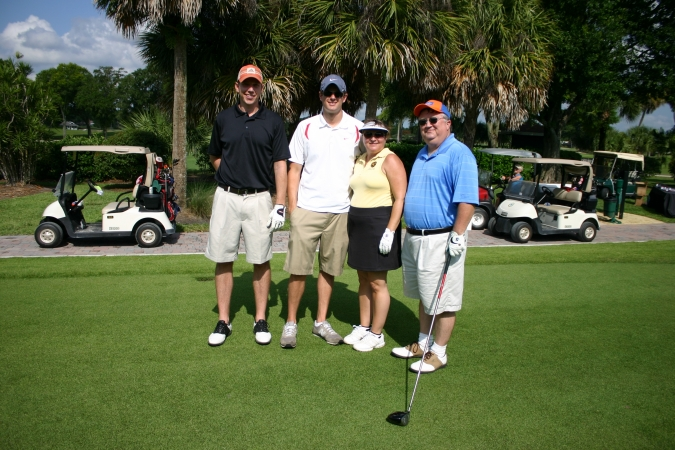 Left to Right: Jacob Ensor, John Carrigan , Elizabeth Bonan and David Earle at the Martin County Bar Association Golf Tournament.