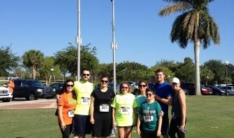 REB Team at the 4th Annual Walk/Race for Pediatric Brain Cancer.